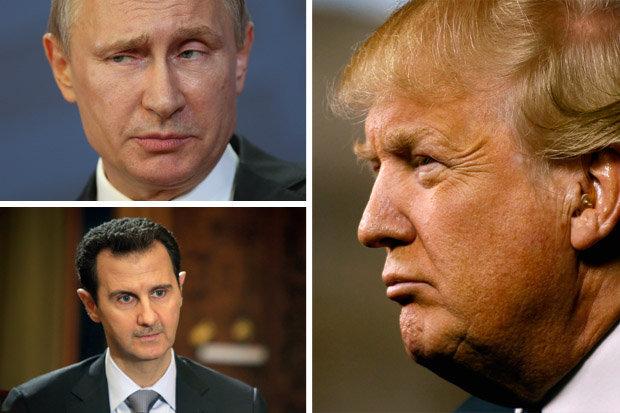 Картинки по запросу Путин Асад  и Трамп - фото