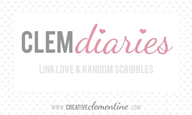 Clem Diaries on www.creativeclementine.com: A roundup of links to things I've done, made, cooked, eaten, bought, loved, or viewed lately.