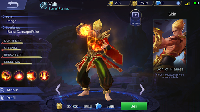 Valir, Hero Mage Dari Mobile Legends Sang Pengendali Api!