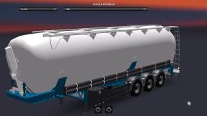 White Silo Tanker trailer