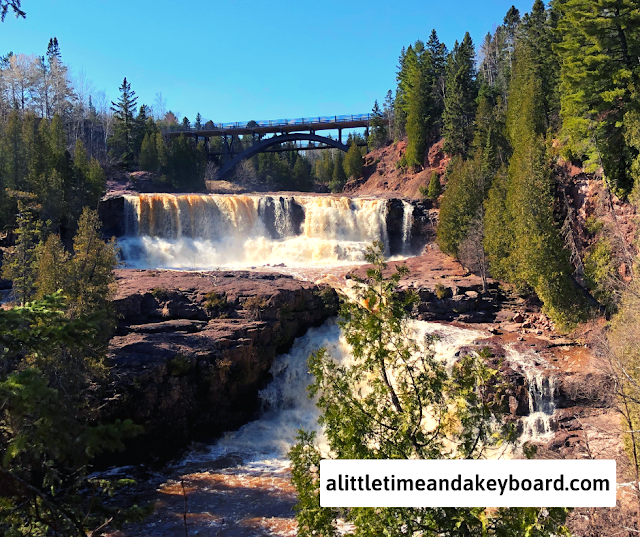 Stunning series of cascades at Gooseberry Falls State Park in Minnesota