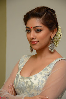 Anu Emmanuel in a Transparent White Choli Cream Ghagra Stunning Pics 094.JPG