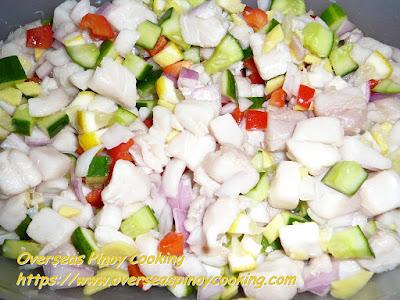 Kinilaw na Tanguigue Dish