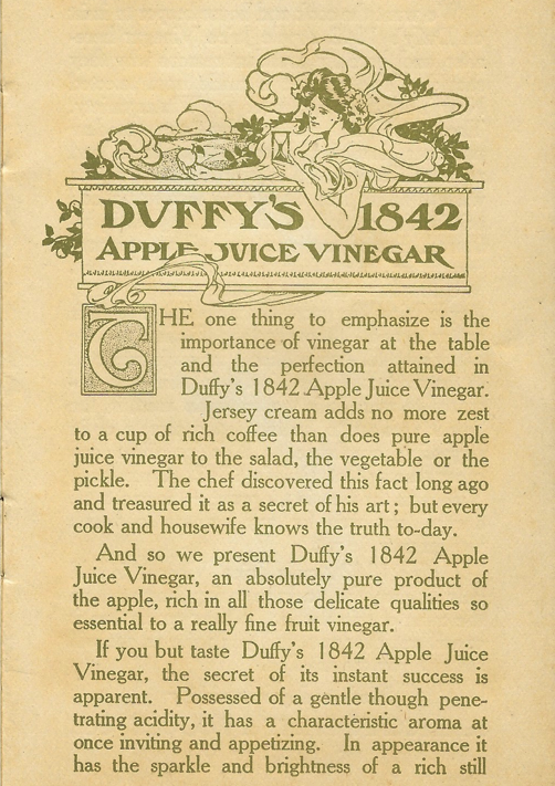 Duffy's 1842 Apple Juice Vinegar