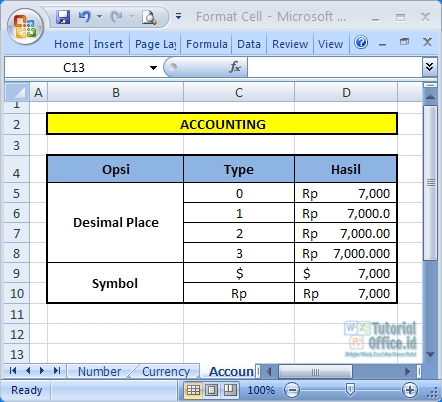 Format Accounting