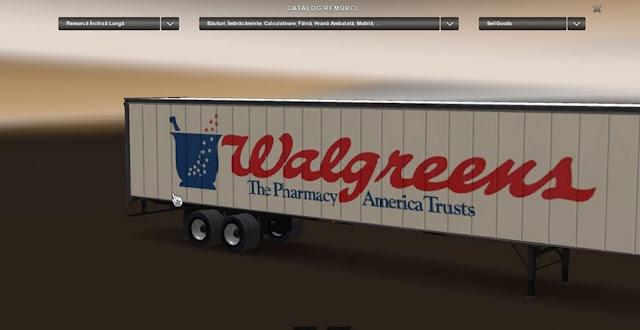 American Truck Simulator Walgreens Trailer Download MODs
