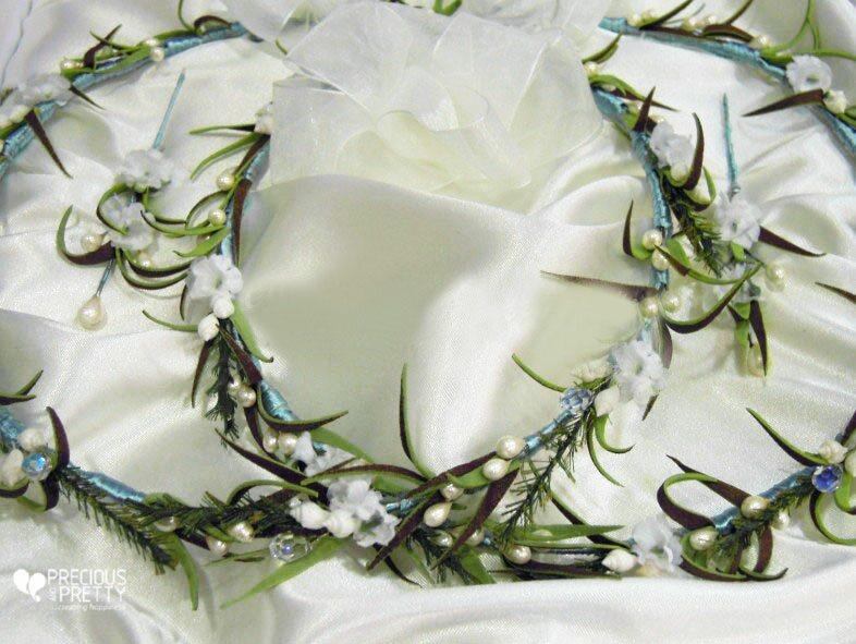 beach mermaid bridal crowns