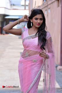Telugu Actress Shalu Chourasiya Stills in Cute Pink Saree at Pochampally IKAT Art Mela  0015.jpg