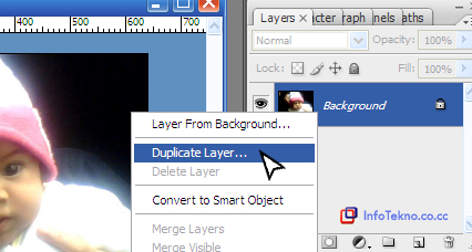 duplikat layer photoshop