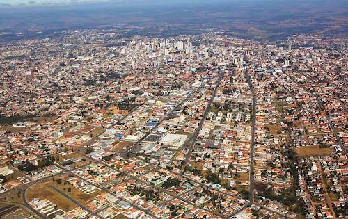 vista aérea de Ponta Grossa