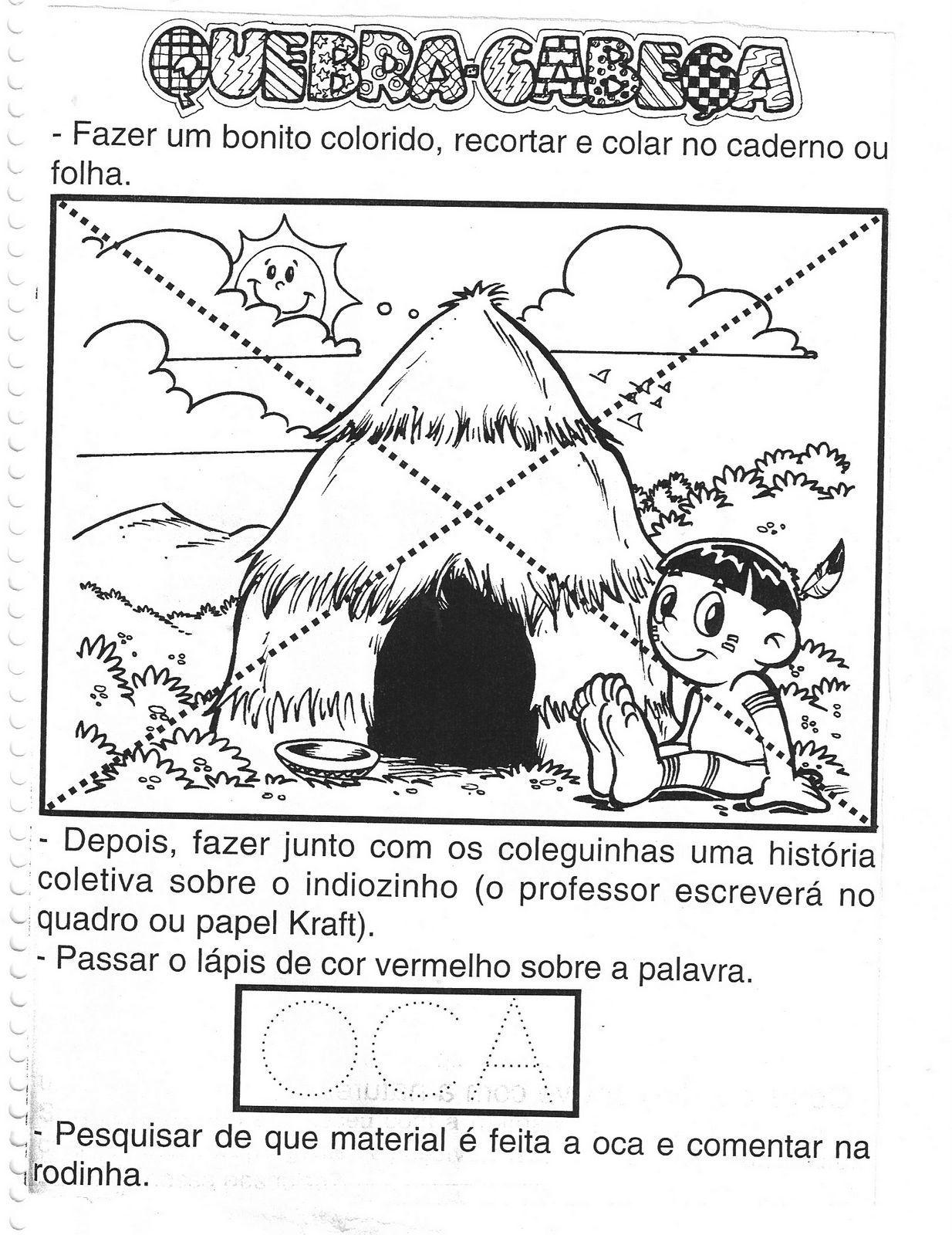 Nayara Ribeiro Atividades Dia Do Indio E Do Livro Atividade Dia