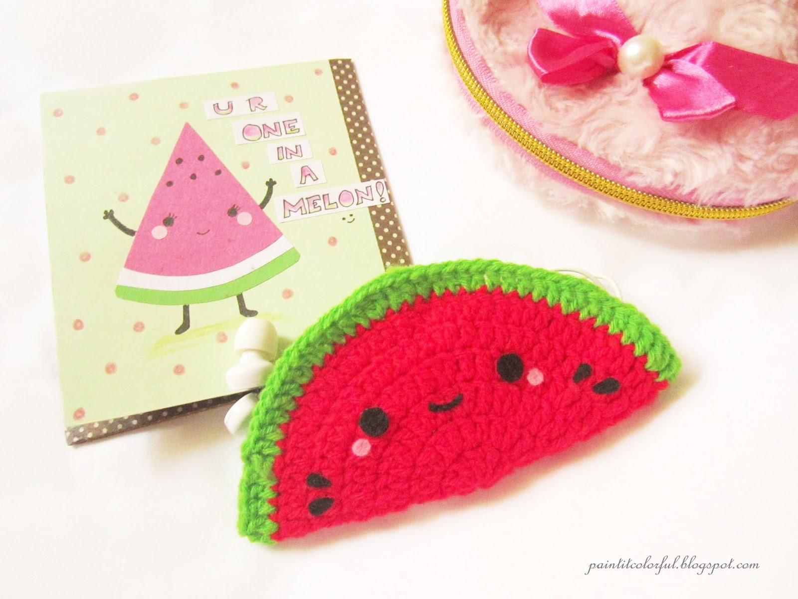 I Think The Vibrant Colors Of Watermelon Clearly Depicts The Radiance Of  Summer So Here's A Little Diy On How To Make A Watermelon Headphone Holder