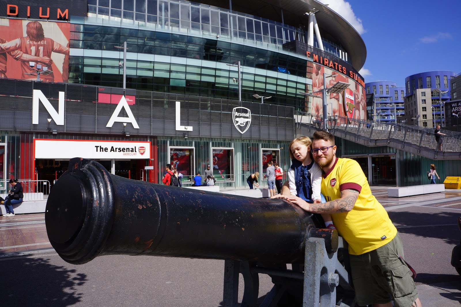 Gunners cannon outside Arsenal Stadium