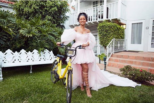 Rihanna-helps-girls-in-Malawi-get-to-School-with-Bicycles