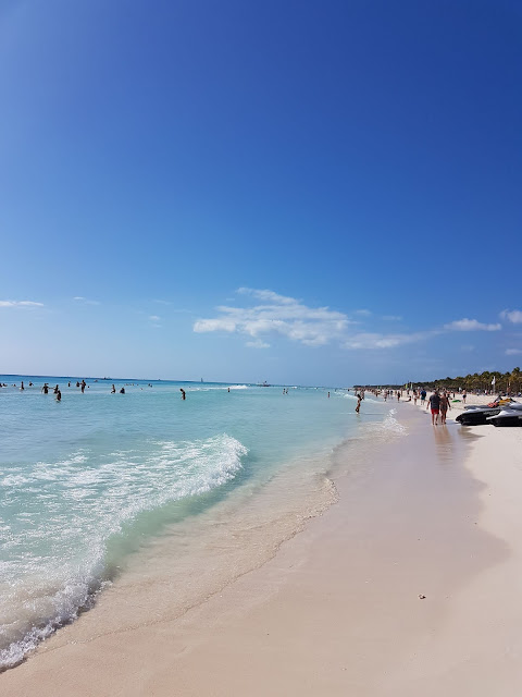 Riviera maya beach mexico