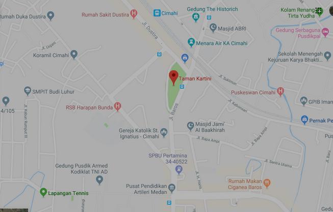 Peta Lalu lintas Seputar Dustira, Jalan Urip dan jl Sudirman di Kota Cimahi