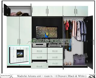 Lemari model tv desain minimalis Arizona