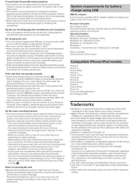 WH1000XM3/B manual