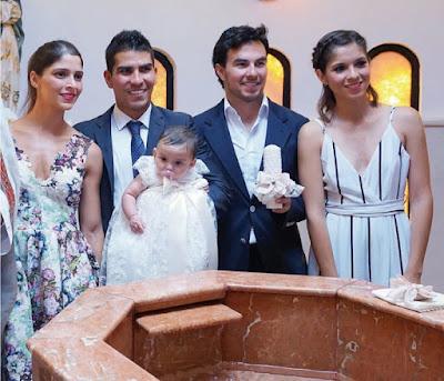 """Sergio """"Checo"""" Pérez padrino de bautizo de su sobrina"""