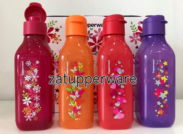 Tupperware  Sparkle Square Eco Bottle (4) 500ml