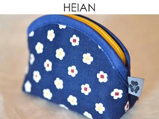 Täschchen Heian aus japanischen Stoffen von Noriko handmade, handgemacht, Einzelstück, Unikat, Design,