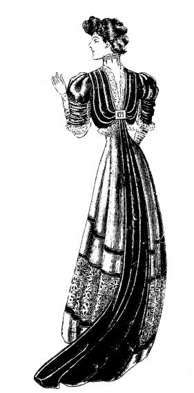 старинное женское платье