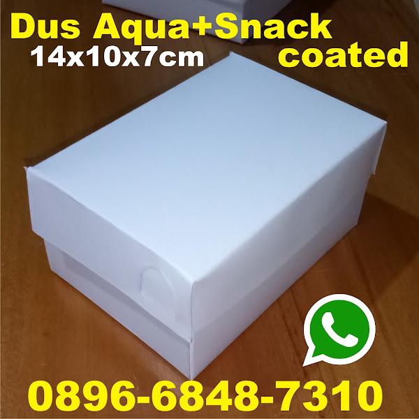 dus snack kardus aqua box putih