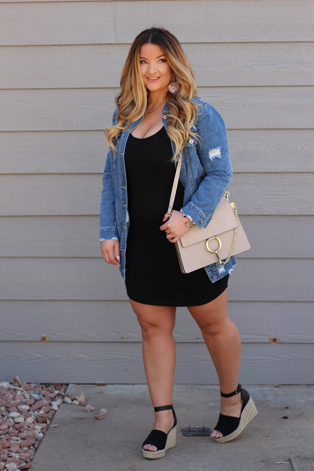 Longline Denim by popular Denver fashion blogger Delayna Denaye