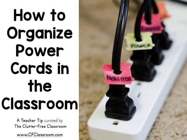 Classrooms are filled with various power cords. This teacher tip will show you how to easily label the cords to save time and improve classroom organization.