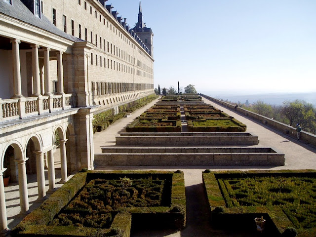 Jardins do El Escorial em Madri