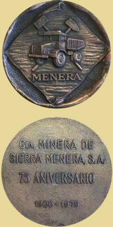Medalla del 75 Aniversario de la Compañía Minera de Sierra Menera, 1975