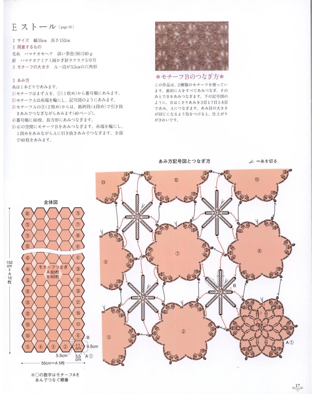 PATRONES GRATIS DE CROCHET: MANTA con motivo estrella a crochet ...