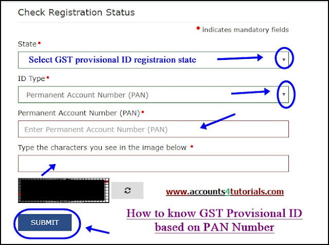 how to know gst provisional id