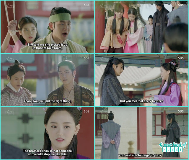 8th prince annoyed why 4th prince called hae soo she belongs to me - Moon Lovers: Scarlet Heart Ryeo - Episode 4 Review