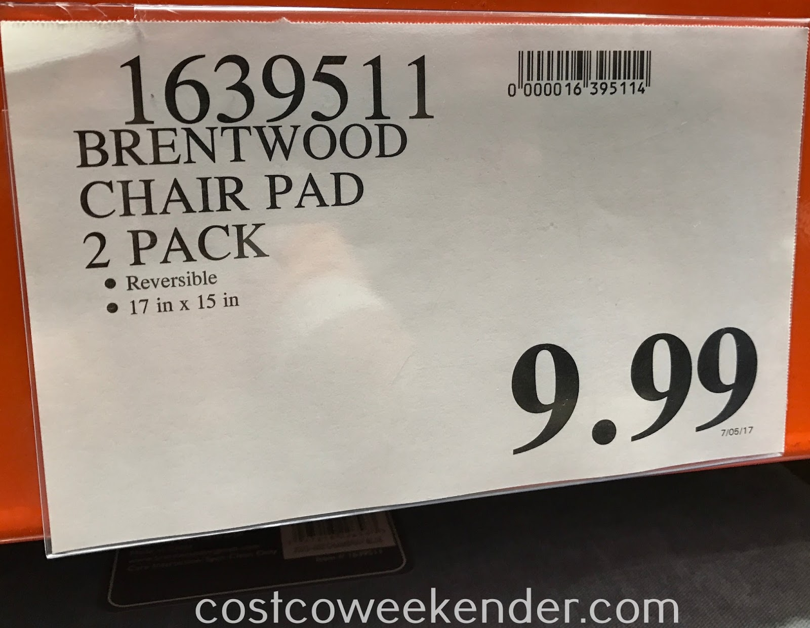 Costco 1639511   Deal For A 2 Pack Of Brentwood Chair Pads At Costco