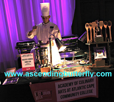 The Academy of Culinary Arts, Atlantic Cape Community College served up Roasted Cornish Game Hen with Farro Pilaf and Dates