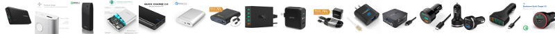 Best Portable Cellphone Charger - Quick Charge enabled charging devices