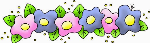 Toon Flowers: Free Printable Borders and Corners.