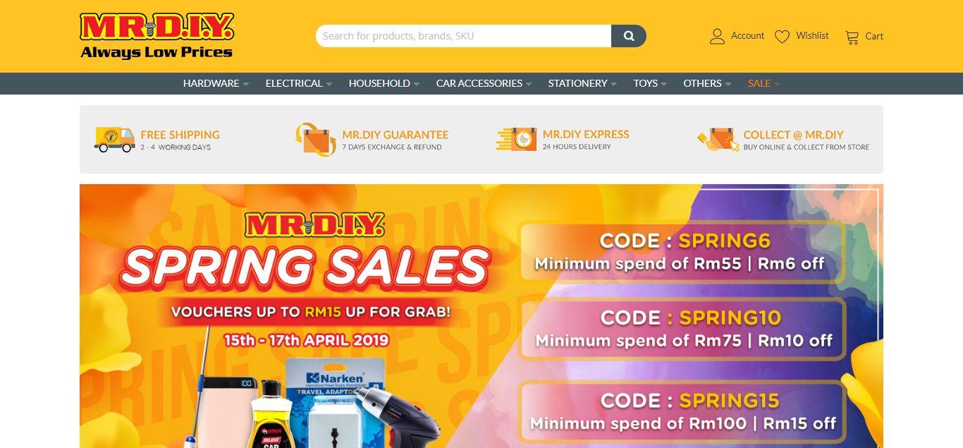 MR DIY e-commerce