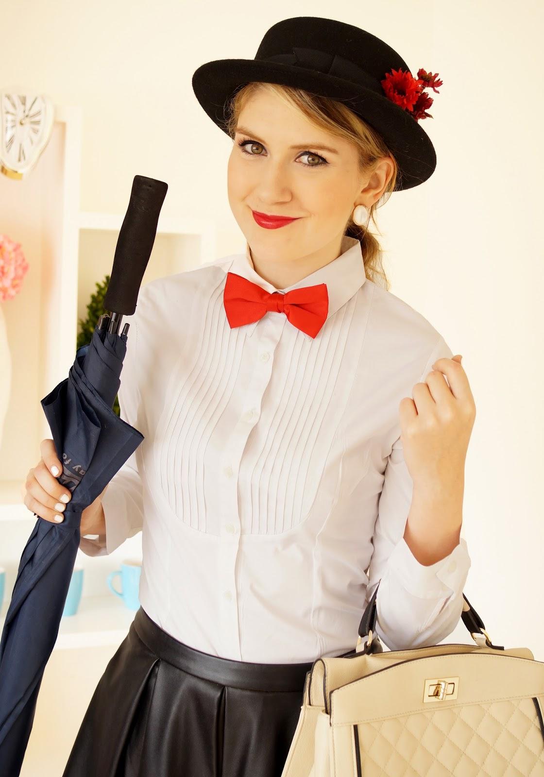 Last Minute Mary Poppins Halloween Costume