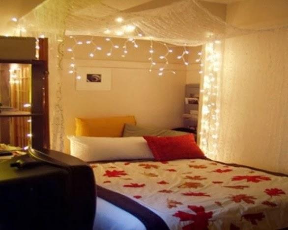 habitación decorada por el día del amor