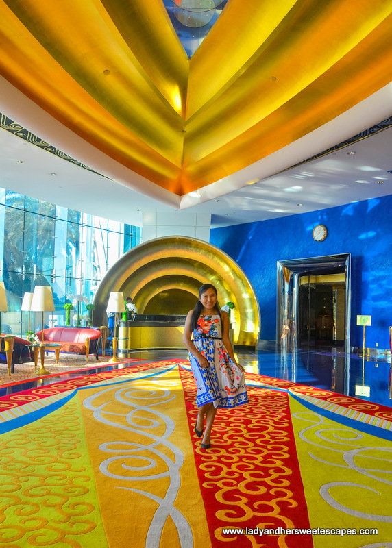 Lady inside Burj Al Arab