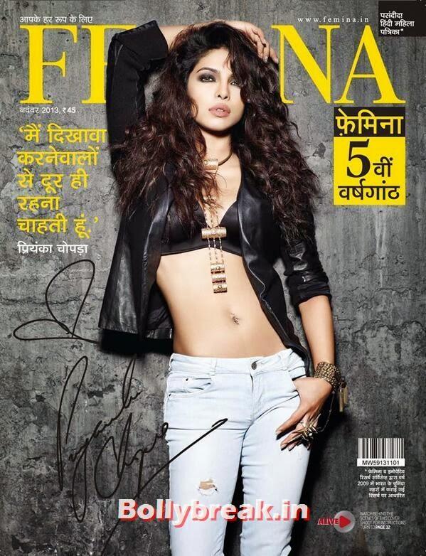 Priyanka Chopra on the cover of Femina Hindi Magazine November 2013, Priyanka Chopra Femina Hindi Magazine November 2013