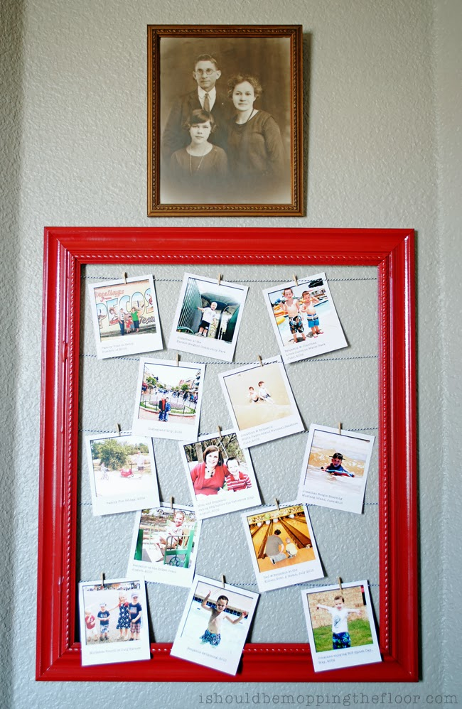 i should be mopping the floor: DIY Polaroid Display