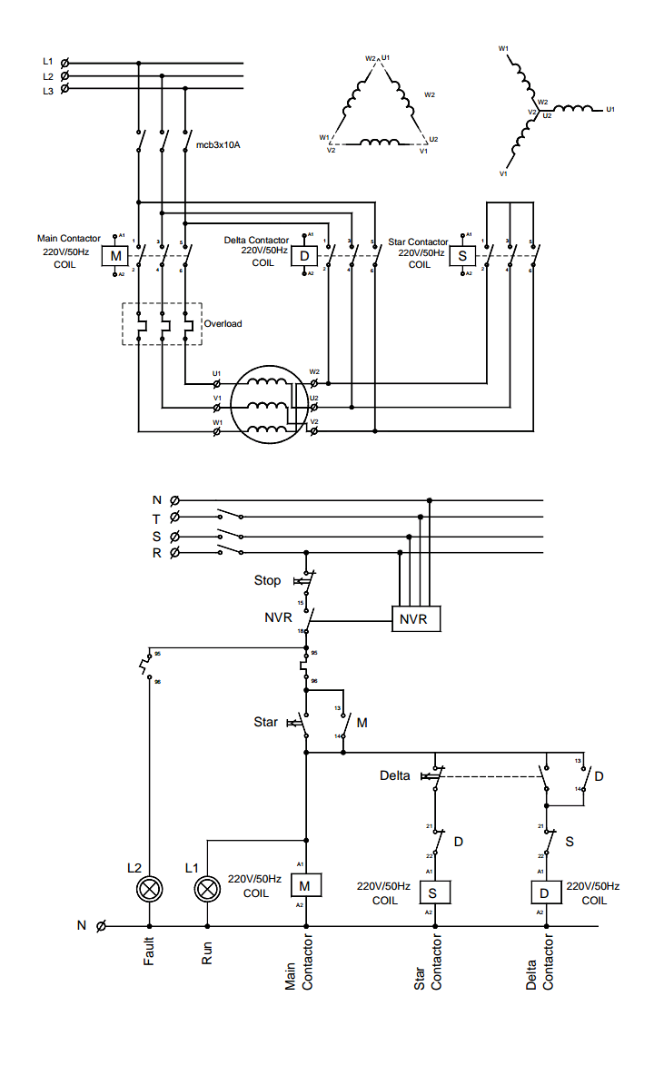 for the following semi automatic star delta control system sketch the ladder diagram the input output diagram of the plc is shown in the figure  [ 720 x 1184 Pixel ]