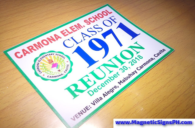 Reunion Magnet - Carmona Elementary School Class of 1971