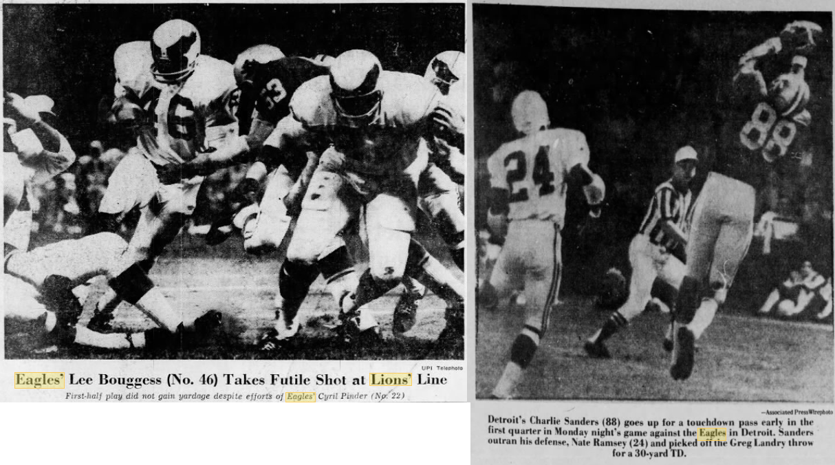 939a6254195 Bill's Update Blog: 1970 Philadelphia Eagles