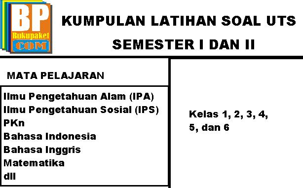 Kumpulan Soal UTS/MID SD/MI Semester 1/2 Lengkap