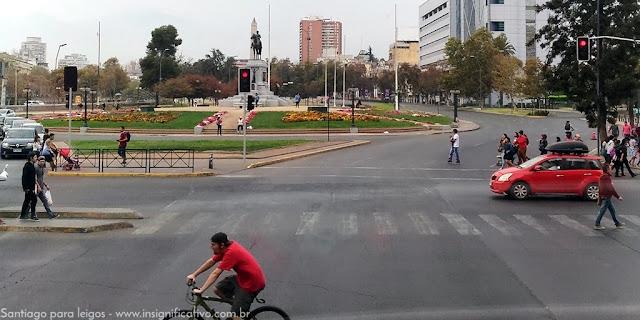 Chile - Santiago - Plaza Baquedano/Plaza Italia