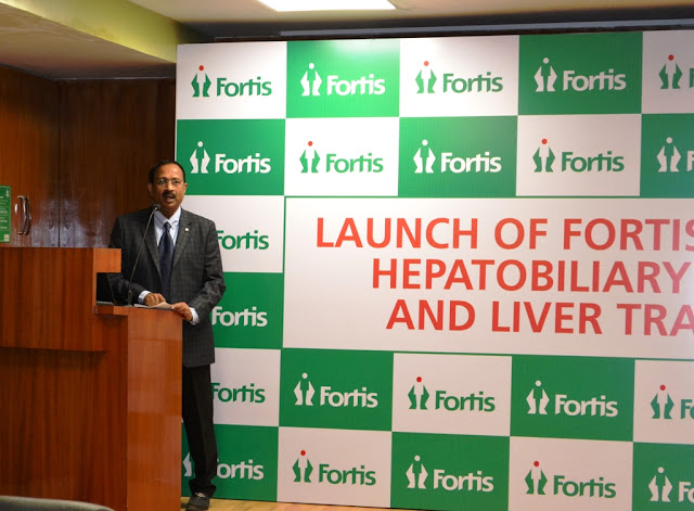 Dr. Kapali Neelamekam, Director, HPB & Liver Transplant Surgery, Fortis Hospitals Bannerghatta Road at the launch